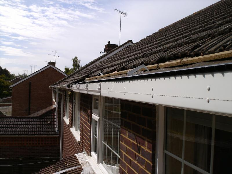10mm vent nailed to top edge of fascia. Gutter clips installed.